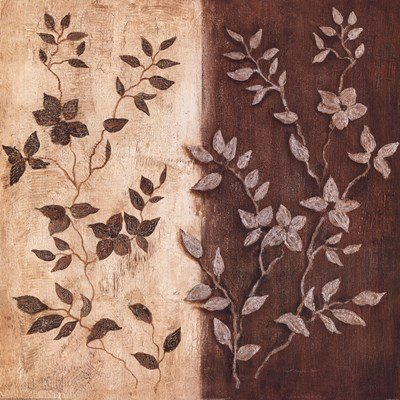 Russet Leaf Garland II by Janet Tava - 20x20 Inches - Art Print Poster