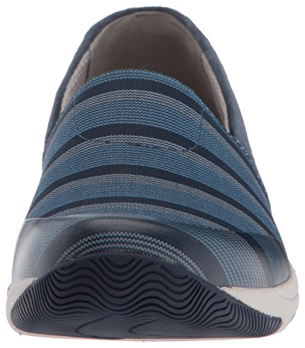 Dansko Dames Harriet Vlak Blauw Stretch Suède