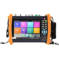 Electop® 7 Inch CCTV Tester 1080P IP Camera Onvif Monitor SDI/AHD/TVI/CVI ,PTZ Control/POE/WIFI/Cable Tracer,Digital Multi-meter/Optical Power Meter/Visual Fault Locator/TDR Cable Test ET-MOVTSADH8600
