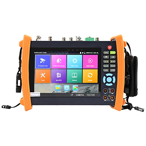 Electop® 7 Inch CCTV Tester 1080P IP Camera Onvif Monitor SDI/AHD/TVI/CVI ,PTZ Control/POE/WIFI/Cable Tracer,Digital Multi-meter/Optical Power Meter/Visual Fault Locator/TDR Cable Test ET-MOVTSADH8600 by Electop