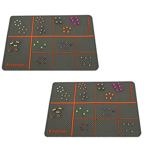 Riverruns Silicone Bead Pad Two Sized Choice Keep Beads & Hooks from Sliding Away You Know Where Your Beads! One of The Best Fly Tying Tools