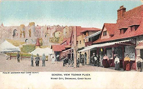 Coney Island Dreamland (Coney Island New York Dreamland Midget City Tozman Plaza Postcard J927031)