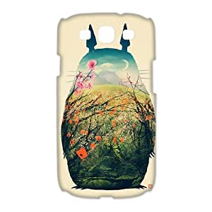 PhoneCaseDiy Cartoon Cartoon Totoro Custom Fantastic Cover Plastic Hard Case Design Cases For Samsung Galaxy S3 S3-AX51423