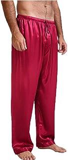 Mens Silk Satin Pajamas Pyjamas Pants Sleep Bottoms Nightwear Sleepwear Trousers