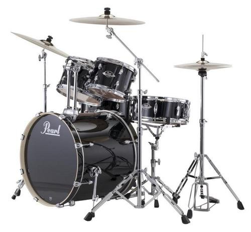 Pearl Export EXX New Fusion 5-Piece Drum Set with Hardware - Jet (Demonator Bass)
