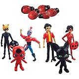 6pcs/Lot Miraculous Ladybug PVC Action Figure Adrien Noir Cat Doll Kids Toy Gift