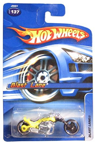 Hot Wheels 2006 Blast Lane (Motorcycle) #137, Yellow