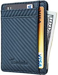 RFID Front Pocket Minimalist Slim Wallet Genuine Leather Small Size