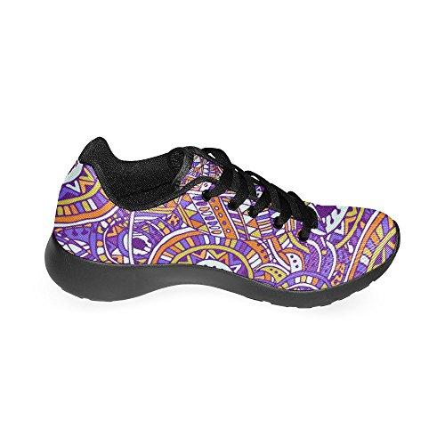 Lona Negro de Zapatillas Zenzzle Negro Para de Running Mujer qRn6z