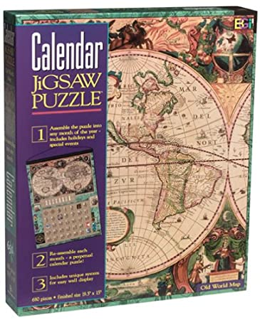 Amazon calendar jigsaw puzzle old world map by buffalo calendar jigsaw puzzle quot old world mapquot gumiabroncs Image collections