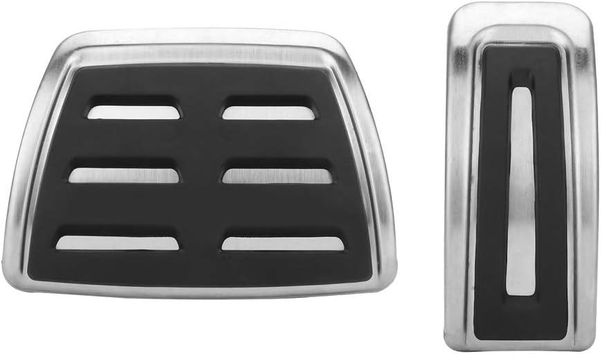 2 piezas Cubiertas de pedal autom/áticas de acero inoxidable para A1 A3 TT Pedal del coche