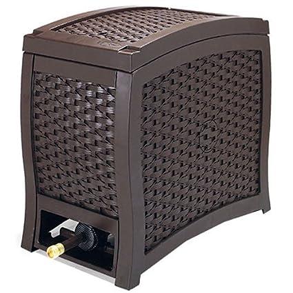 Amazon Com Suncast Aquawinder 125 Wicker Garden Hose Reel