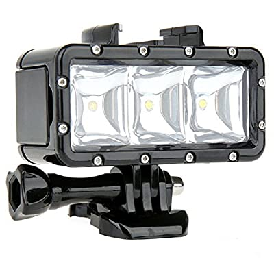 YOEMELY Waterproof LED Diving Fill Light 40m Underwater High Power Dimmable for GoPro Hero 5/4/3+/3/2/1 and Action Cameras from YOCI Technology