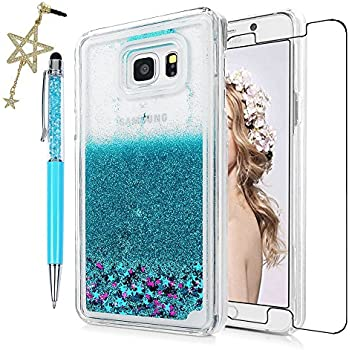 Note 5 Case, Samsung Galaxy Case - Quickstand Flowing Liquid Floating Bling Glitter Amazon.com: