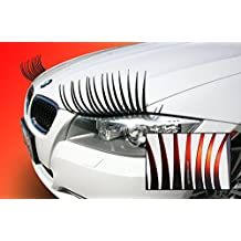 CarLashes Ombre Shaded RED Car Eyelashes, Special Edition CarLashes, Hand Airbrushed Candy Red