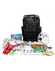 American Preparedness 7208 273-Piece Four-Person Starter Emergency Preparedness Kit with Rolling Backpack
