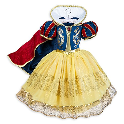 Disney Snow White Deluxe Costume Size 9/10 Multi -