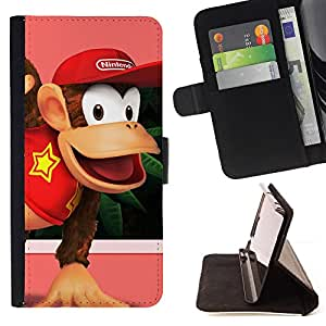 For Apple Iphone 5C Donkey King Leather Foilo Wallet Cover Case with Magnetic Closure