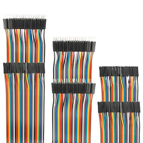 - EDGELEC 120pcs Breadboard Jumper Wires 10cm 15cm 20cm 30cm 40cm 50cm 100cm Optional Arduino Wire Dupont Cable Assorted Kit Male to Female Male to Male Female to Female Multicolored Ribbon Cables