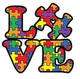 BOLDERGRAPHX 1061 Autism Awareness Puzzle Piece Car