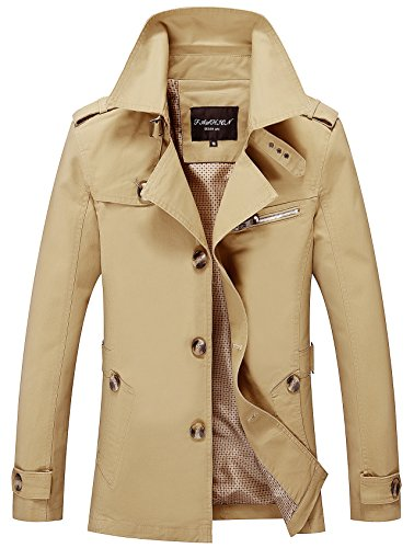 hombre Chaqueta Parka N1306 Khaki YYZYY para fUqwtfW1