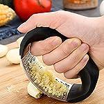 New Design Stainless Steel Garlic Press Rocker – Professional Grade Garlic Mincer Crusher and Garlic Press-With Silicone…