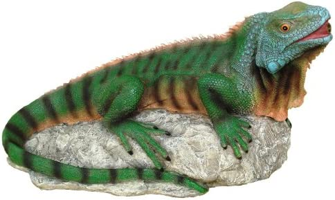 Design Toscano EU9316 Ike The Iguana Spitter Piped Statue,full color