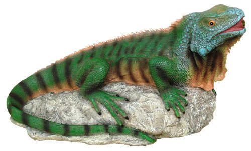 Design Toscano Ike The Iguana Spitter Piped Statue
