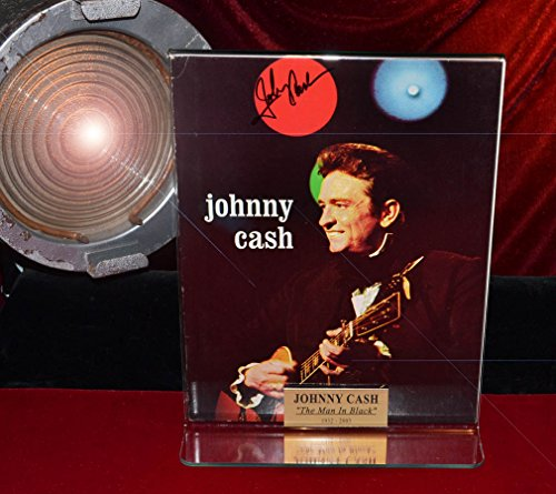 JOHNNY CASH Boldly SIGNED Magazine, autograph COA UACC, FRAME, Newspaper, Calendar with lots of photos