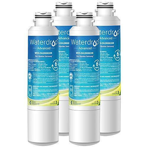 Waterdrop NSF 53&42 Certified DA29-00020B Refrigerator Water Filter, Compatible with Samsung DA29-00020B, DA29-00020A, HAF-CIN/EXP, 46-9101, Advanced, Pack of 4