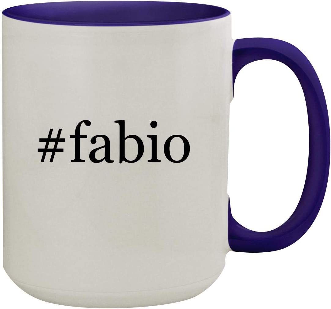 #fabio - 15oz Hashtag Ceramic Inner & Handle Colored Coffee Mug, Deep Purple 51PF6julpUL
