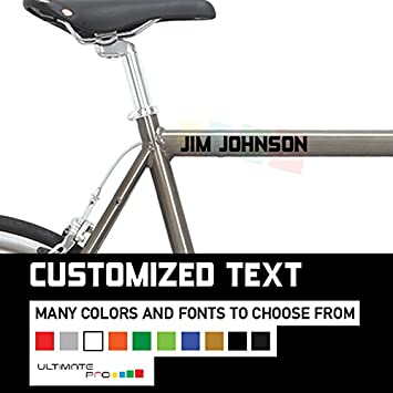 Amazoncom Custom Decal Stickers For Bicycle Or Mountain Bike - Bicycle stickers custom