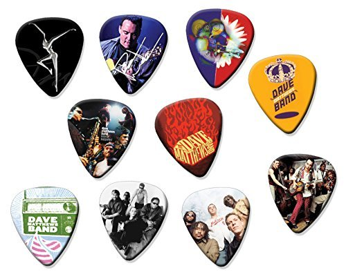 Dave Matthews Electric Guitar (Dave Matthews Band Classic Set of 10 Electric Acoustic Guitar Plectrums)