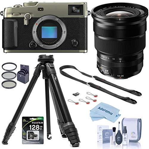 Fujifilm X-Pro3 Mirrorless Camera, Dura Siver, with XF 10-24mm F4.0 OIS Lens, Black – Bundle with Peak Aluminum Travel…