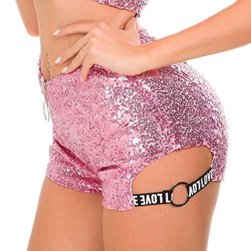 キャベツシャットいじめっ子JCH セクシーなスパンコールハイウエストレターショーツDS衣装リードダンスバーDJナイトクラブ女性歌手パフォーマンス衣類レディースショート