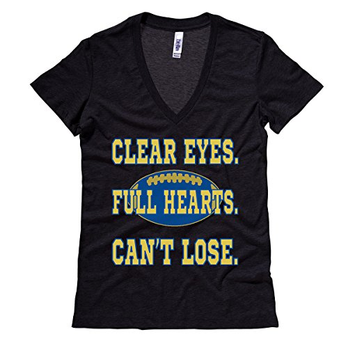 Moment Gear Women's Clear Eyes. Full Hearts. Can't Lose. V Neck Large Black