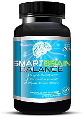 Brain Booster by Smart Brain Balance, Natural Memory Enhancing Supplement - Brain Pills W/ Ginko Biloba, Ginseng & St John's Wort, Relieve Stress and Anxiety - 60 Veggie Capsules
