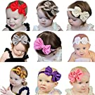 Quest Sweet Baby Girl Multicolor Hair Hoops Headbands,Solid Bunny Ears,Bow Headbands(5-8 Pack )