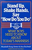 img - for Stand Up, Shake Hands, and Say