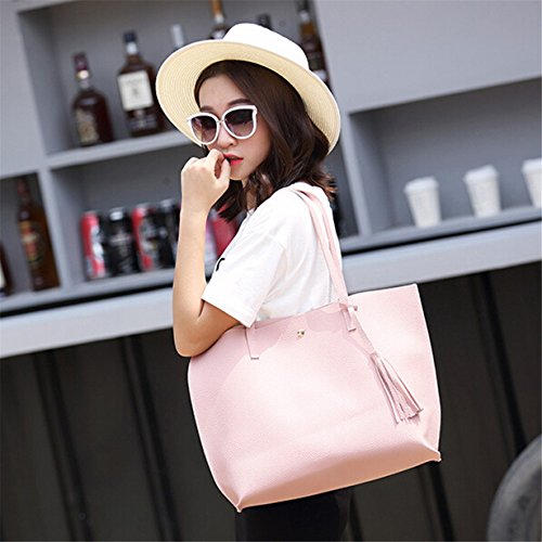 Bags Girl Leather for Purse Yuan Shopping Top Handbag Women Handle Pink Shoulder Bag Tote 4qwqv7fxP