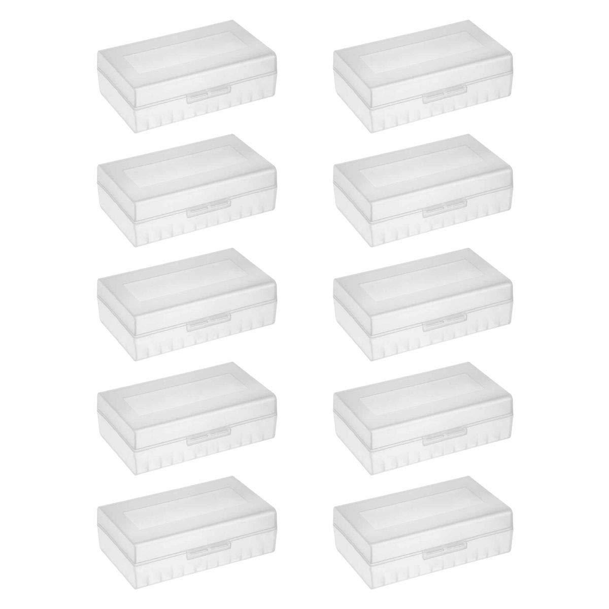 10er Pack Aufbewahrungsbox f/ür 4X 18650 Akkus//Batterien F/ür Zellen ohne PCB 10er Set