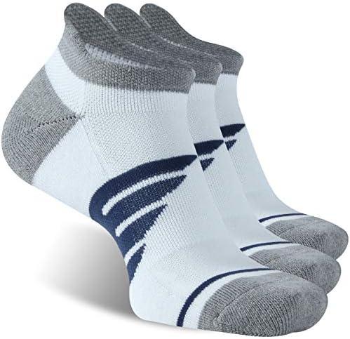 Athletic Running Socks, JSPA Unisex Comfort Fit Performance No Show Socks 3 Pairs