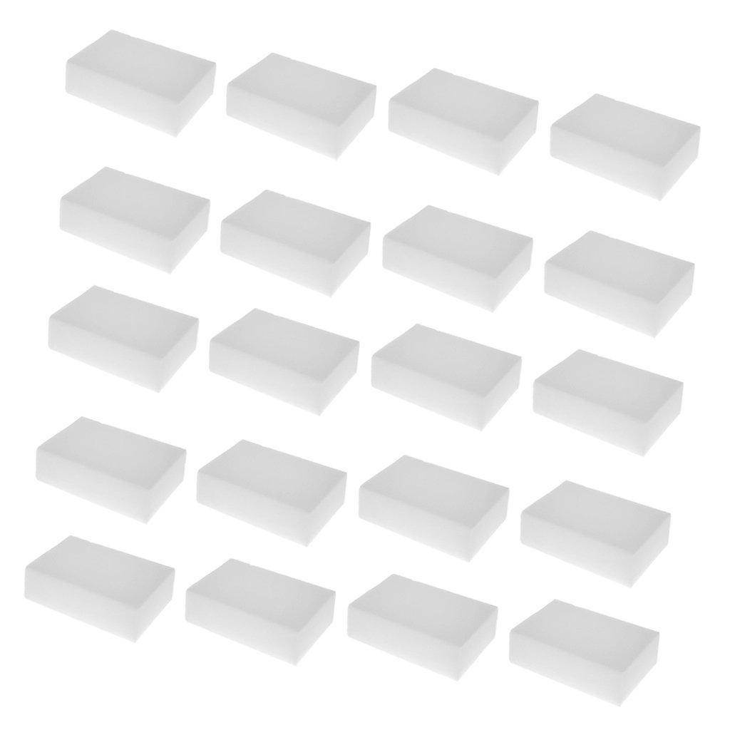 Prettyia Magic Cleaning Sponge Melamine Foam Eraser Stain Dirt Remover Pad of 20Packs
