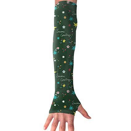 Christmas Sports Background.Amazon Com Sports Arm Sleeves Christmas Green Background Uv
