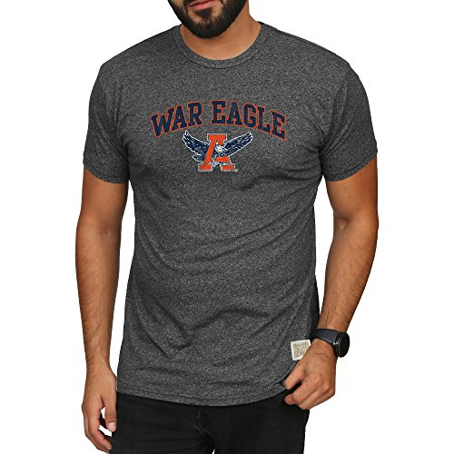 Elite Fan Shop Auburn Tigers Retro Tshirt Charcoal - ()