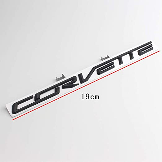 Xcbw 3d Metalllegierung Corvette Logo Emblem Auto Styling Heckkofferdeckel Heckklappe Brief Aufkleber Aufkleber Für C Hevrolet Corvette Silber Küche Haushalt