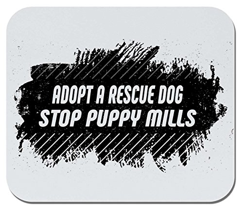 (Makoroni - Adopt A Rescue Dog, Stop Puppy Mills - Non-Slip Rubber Mousepad, Gaming Office Mousepad)