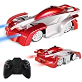 Remote Control Car, Kid Toys for Boys Girls, Wall Climber Car for Kids Birthday Present with Mini Control LED Light, Dual Mode 360° Rotating Stunt Car (Red)