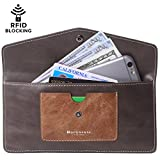 #5: Women's Wallet Leather RFID Ultra-thin Envelope Ladies Purse Travel Clutch