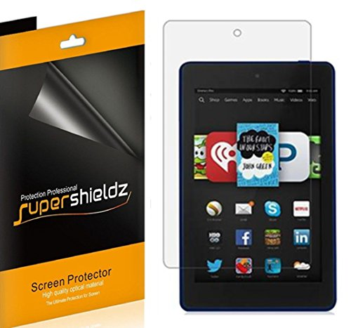 [3-Pack] Supershieldz for Fire HD 6 / Kids Edition 6 Screen Protector, High Definition Clear Shield + Lifetime Replacement